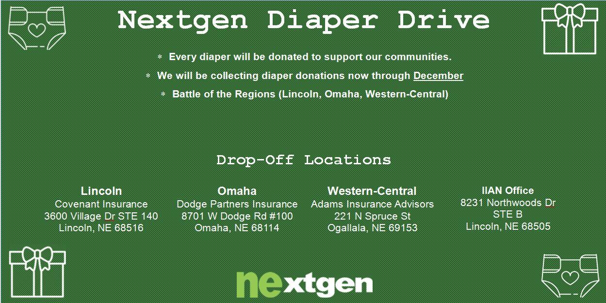 Nextgen Diaper Drive 2019